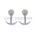Crescent Moon Star Ear Jackets