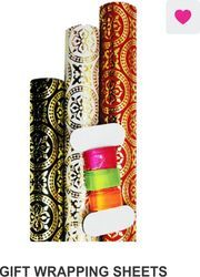 Gift Wrapping Sheets Pack Of 3 With Ribbon