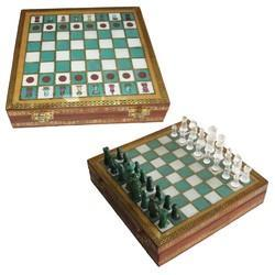 Wooden Gemstone Chess Board