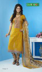 Priented Cotton Dress Material