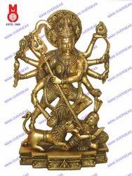 Durga Standing On Lion Statue
