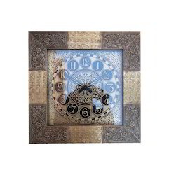 Decorative Square Metal Wall Clock