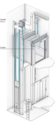 Outdoor Hydraulic Home Lift With SS Cabin