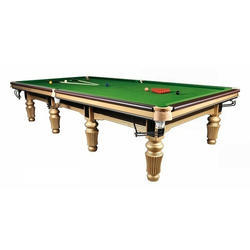 Pool Table In Gold Polish