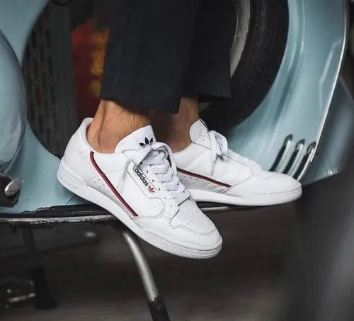 White Adidas Continental 80, Size