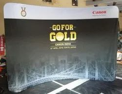 Exibu Curved Backdrop for Exhibition Booth