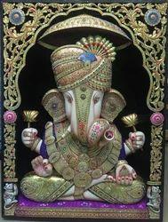 Ganesha Gold Painting
