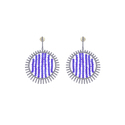 Diamond Blue Beads Earrings