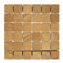 Tumbled Jaisalmer Yellow sandstone Mosaic tile / Wall Cladding tiles