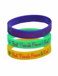 Green Color Rubber Friendship Wristband