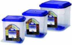 Plastic Airtight Square Container Macro Set
