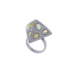 Premid Shape Gemstone Diamond Ring