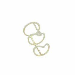 Gold Pave Diamond Full Finger Ring