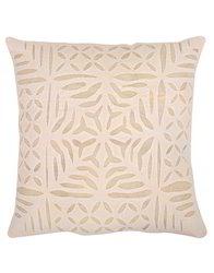Cream Abstract Cotton Applique Cushion Covers