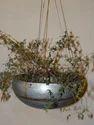 Galvanised Hanging Planter Bowl W/brass Welding