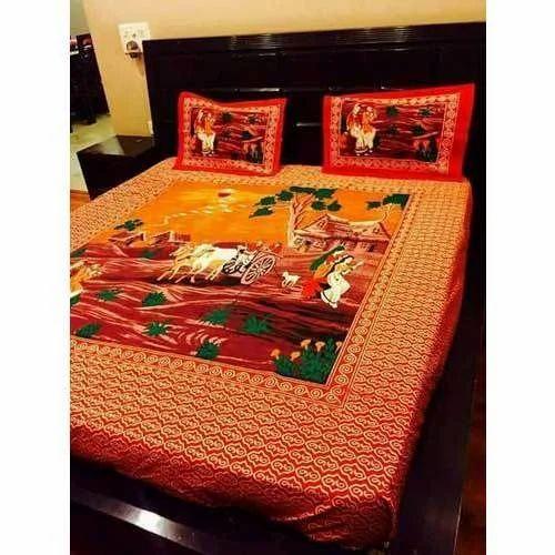 Custom Cotton Printed Bed Sheet