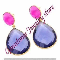 Water Sapphire Earring