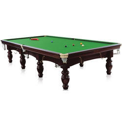Dark Brown Snooker Table with Imported Slate