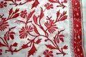 India Hand Block Printed Cotton Fabric Floral Sanganeri print