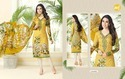 Printed Yellow Essenza Salwar Suit Fabric