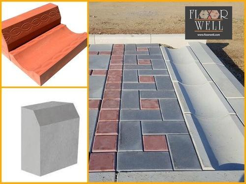 Dished Water Channel Concrete Paver Concrete Kerbstone