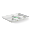Biodegradable Sugarcane bagasse 5 compartment Plate