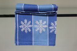 Yarn Dyed Kitchen Towel With Embroidery