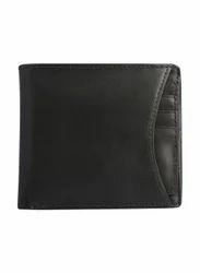 Leather RFID blocking wallet slim black