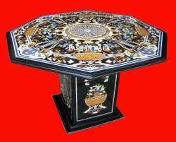 Italian Inlay Marble Table