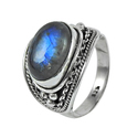 Paradise Bloom Labradorite Gemstone 925 Sterling Silver Ring