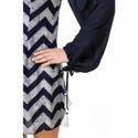 Blue Printed Mini Dress For Women