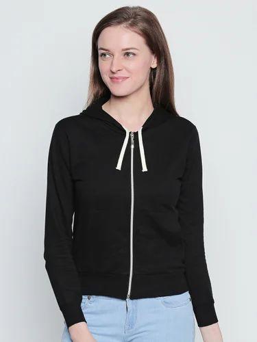100% Cotton Women's Fulll Sleeve Sweatshirt