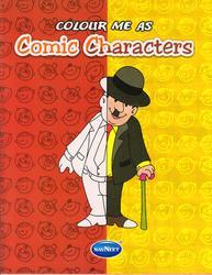 Colour Me as Comic Characters Book