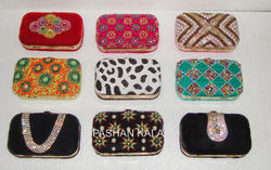 Embroidery and Beaded Ladies Clutch Purses