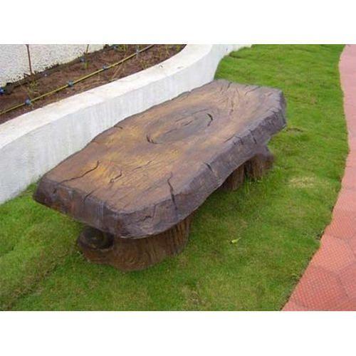 fibreglass garden benches and seats frp log sitting bench exporter from pune - Garden Furniture Lebanon