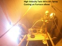 Metal Spray Coating Service On Steel Plant Furnace Elbow