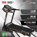 Powermax TDM-100S Motorised Treadmill With Jumping wheels and Semi-Auto Lubrication