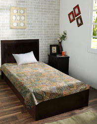 Paisley Printed Kantha Bed Linen Single Bed sheet