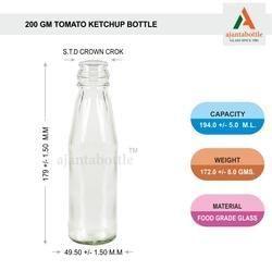 200 Ml Flint Tomato Ketchup Bottle