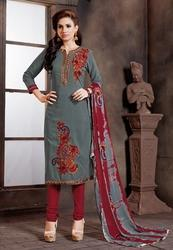 Embroidered Dupatta Suits