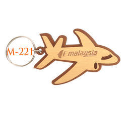 Aeroplane Wooden Key Chain