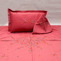 Chikan Embroidered Bed Sheet ( Century Cotton)