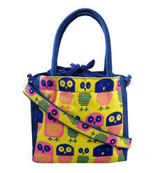Printed Canvas Handbag