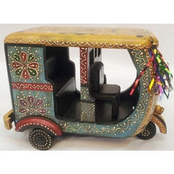 Wooden Handicraft Auto Rickshaw