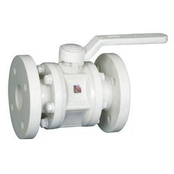 PP Flanged Ball Valves (White)