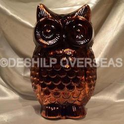Owl Shaped Candle Votive Holder