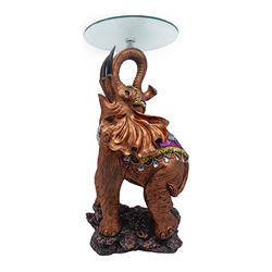 Elephant with Glass Table Statue/ Showpiece Decorative Gift