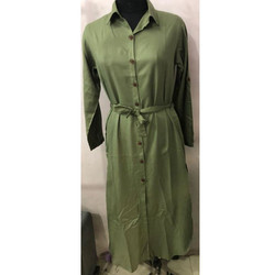 Casual Green Ladies Robe