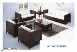 Cane Poolside Sofa