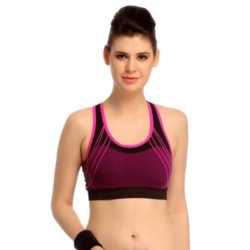 af09de1825d93 Sport Bra - Pink Color Women s Sport Bra Wholesale Supplier from Surat